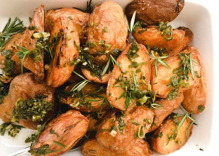 Roast Chat Potatoes